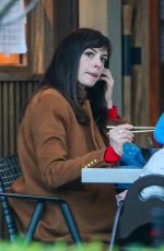 ANNE HATHAWAY Out for Dinner in Los Angeles 03/17/2021