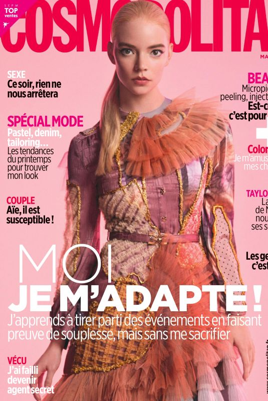 ANYA TAYLOR-JOY in Cosmopolitan Magazine, France March 2021