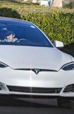 ARIANA GRANDE and Dalton Gomez Out Driving in Montecito 03/30/2021