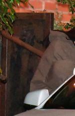 ARIANA GRANDE Leaves FIA Restaurant in Santa Monica 03/06/2021