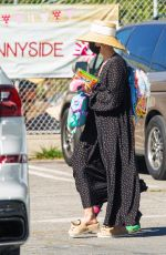 ASHLEE SIMPSON Out in Los Angeles 03/01/2021