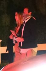 ASHLEY BENSON Out for Dinner in Los Angeles 03/14/2021