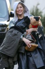 ASHLEY BENSON Out with her Dog in Encino 03/10/2021