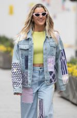 ASHLEY ROBERTS in Double Denim Leaves Heart Radio in London 03/03/2021