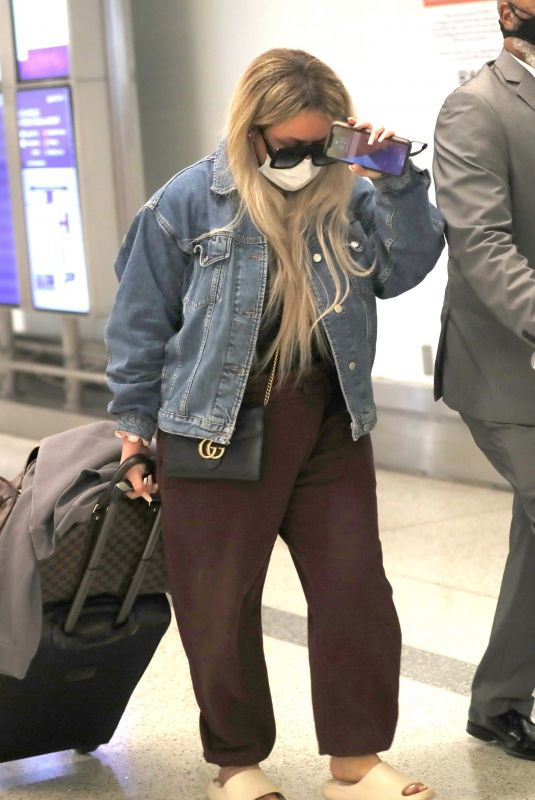 AUBREY O'DAY at LAX Airport in Los Angeles 03/14/2021