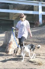 AVA PHILLIPPE Out Hiking with Her Dog in Brentwood 03/19/2021