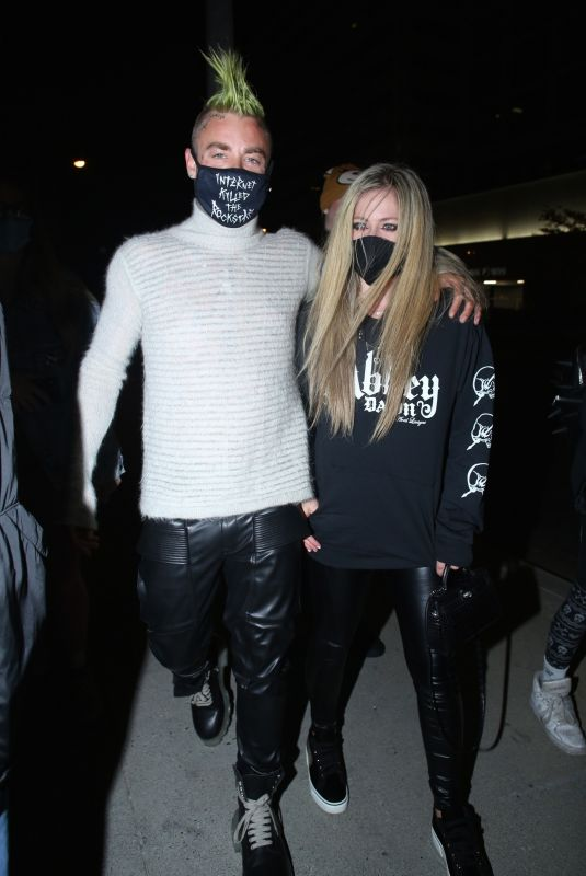 AVRIL LAVIGNE and Mod Sun at BOA Steakhouse in West Hollywood 03/05/2021