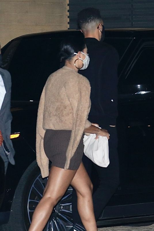 AYESHA CURRY Out for Dinner in Malibu 03/08/2021