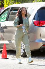 BECKY G Takes a Break while Shooting a Commercial in Los Angeles 03/30/2021