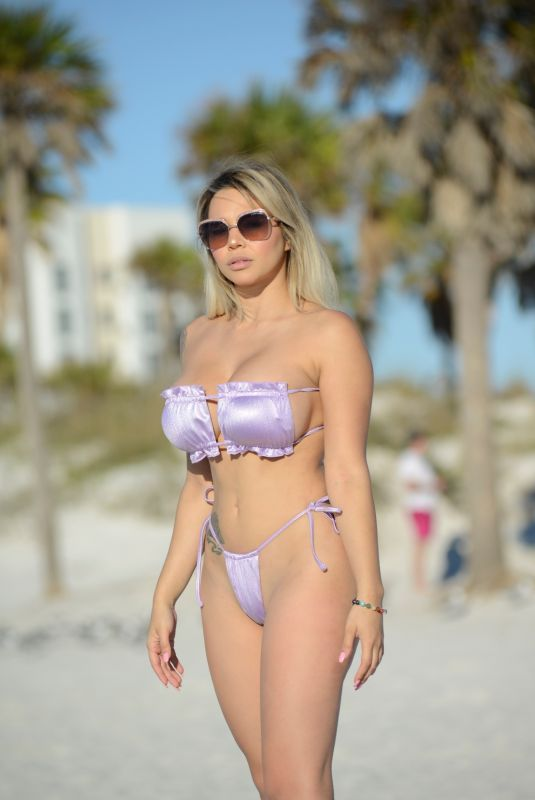 BELLA BUNNIE AMOR in Bikini at a Beach in Fort Lauderdale 03/11/2021