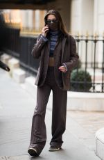 BELLA HADID Out and About in Paris 03/04/2021