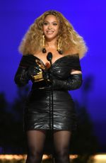 BEYONCE at 2021 Grammy Awards in Los Angeles 03/14/2021