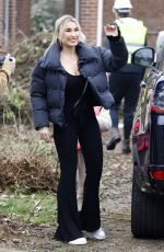 BILLIE FAIERS Filming at Her New Home 03/02/2021