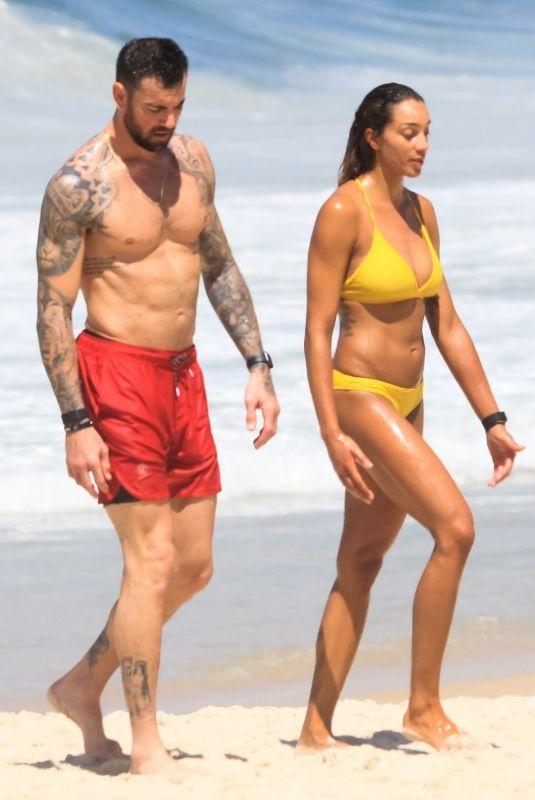 BRANDIE WILKERSON in Bikini at a Beach in Rio 03/02/2021