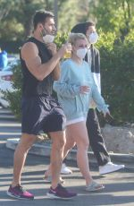 BRITNEY SPEARS and Sam Asghari Out in Los Angeles 03/16/2021