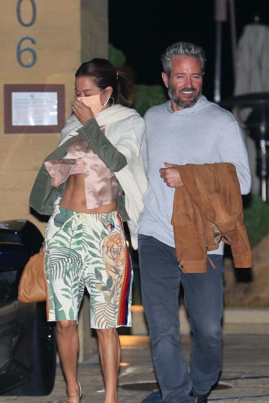 BROOKE BURKE and Scott Rigsby Out for Dinner in Malibu 03/21/2021