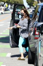 BROOKE BURKE Heading to a Nail Salon in Los Angeles 03/26/2021