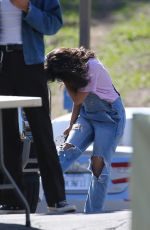CAMILA CABELLO at a Video Shoot in Los Angeles 03/29/2021
