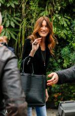 CARLA BRUNI Arrives at Vivement Dimanche Prochain Show in Paris 03/26/2021