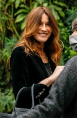 CARLA BRUNI Arrives at Vivement Dimanche Prochain Show in Paris 03/26/2021