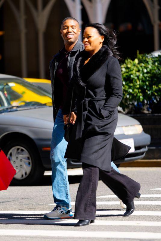 CHANTE ADAMS and Michael B. Jordan Out in New York 03/12/2021