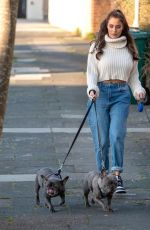 CHLOE GOODMAN Out with Her Dogs in Hove 02/28/2021