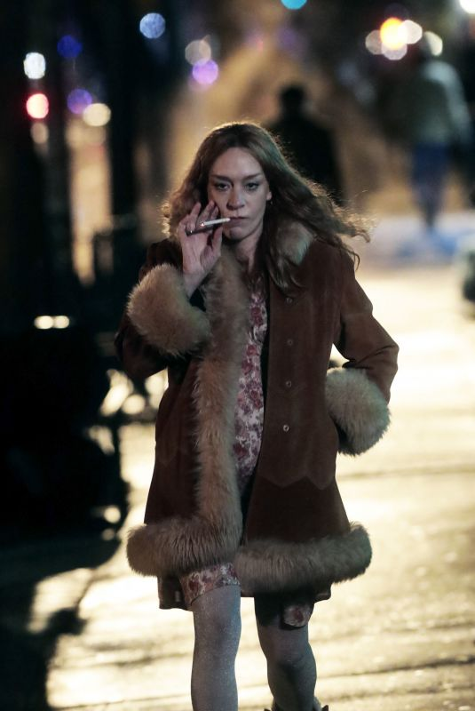 CHLOE SEVIGNY on the Set of Russian Doll in New York 03/12/2021
