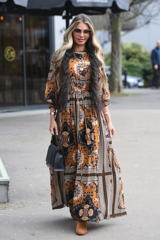 CHLOE SIMS on the Set of The Only Way is Essex 03/23/2021