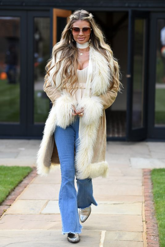CHLOE SIMS on the Set of The Only Way is Essex 03/28/2021