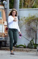 CHRISHELL STAUSE Out with Her Dog in Los Angeles 03/10/2021
