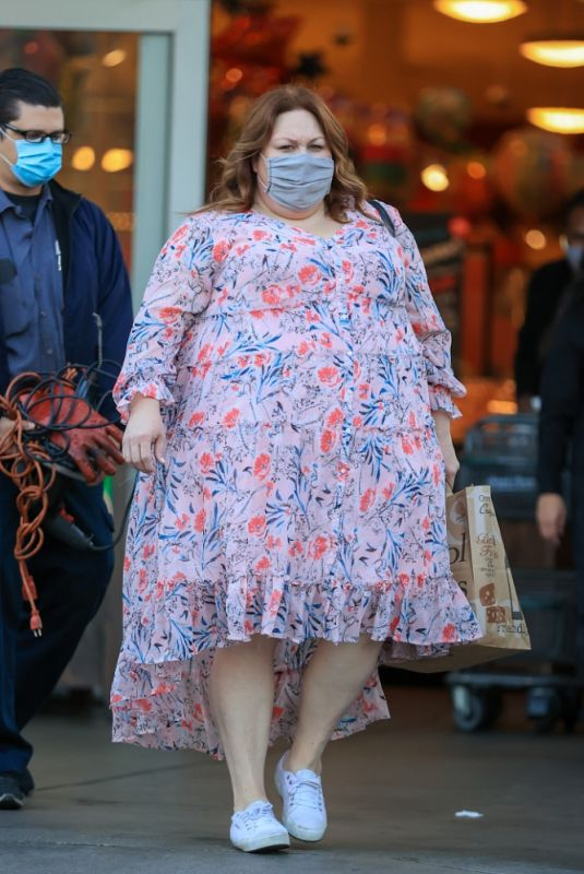 CHRISSY METZ Out Shopping at Bristol Farms 03/18/2021