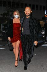 CHRISSY TEIGEN and John Legends at Grammy Afterparty in Los Angeles 03/14/2021