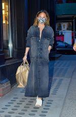 CHRISSY TEIGEN in Denim Out in New York 03/07/2021