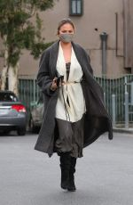 CHRISSY TEIGEN Out and About in Beverly Hills 03/15/2021