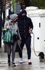 CHRISTINE and Frank LAMPARD Out with Their Dog in London 03/25/2021