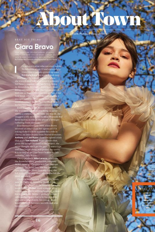 CIARA BRAVO in The Hollywood Reporter, March 2021