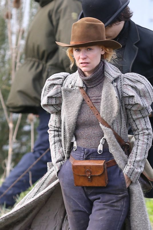 CLAIRE DANES on the Set of The Essex Serpent in London 03/16/2021