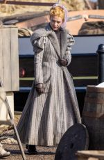 CLAIRE DANES on the Set of The Essex Serpent in London 03/25/2021