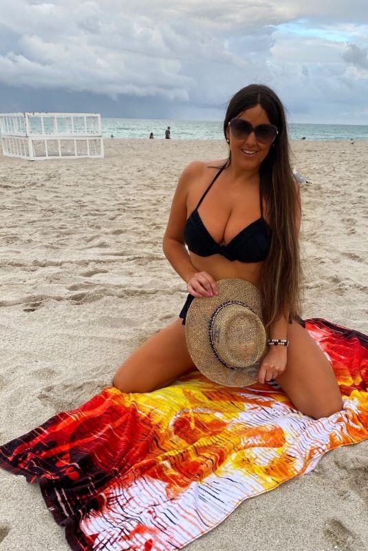 CLAUDIA ROMANI in Bikini at Miami Beach 02/28/2021