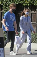 CLAUDIA SULEWSKI Out with her Dog in Malibu 03/29/2021