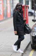 CLAUDIA WINKLEMAN Leaves Wogan House in London 03/27/2021