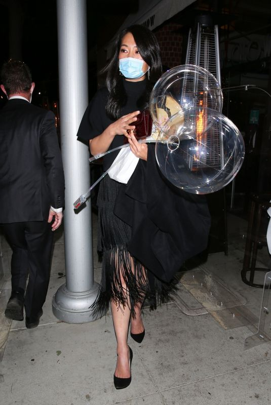 CRITAL KUNG MINKOFF Leaves Kathy Hilton's Birthday Party 03/13/2021