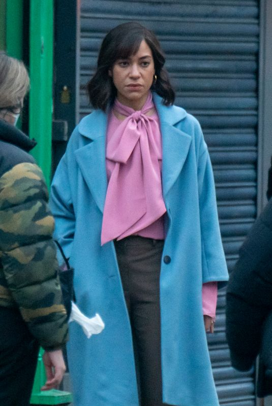 CUSH JUMBO on the Set of Stay Close in Manchester 03/03/2021