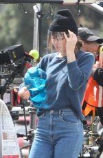 DAKOTA JOHNSON on the set of Am I Ok? in Los Angeles 03/08/2021