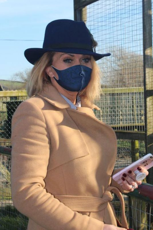 DANIELLA WESTBROOK at Borth Wild Animal Kingdom Wildlife Park in Wales 03/01/2021
