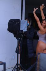 DAPHNE JOY in Swimsuit at a Photoshoot in Los Angeles 03/10/2021