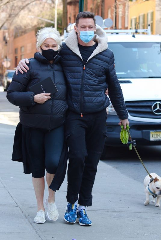 DEBORRA-LEE FURNESS and Hugh Jackman Out in New York 03/10/2021