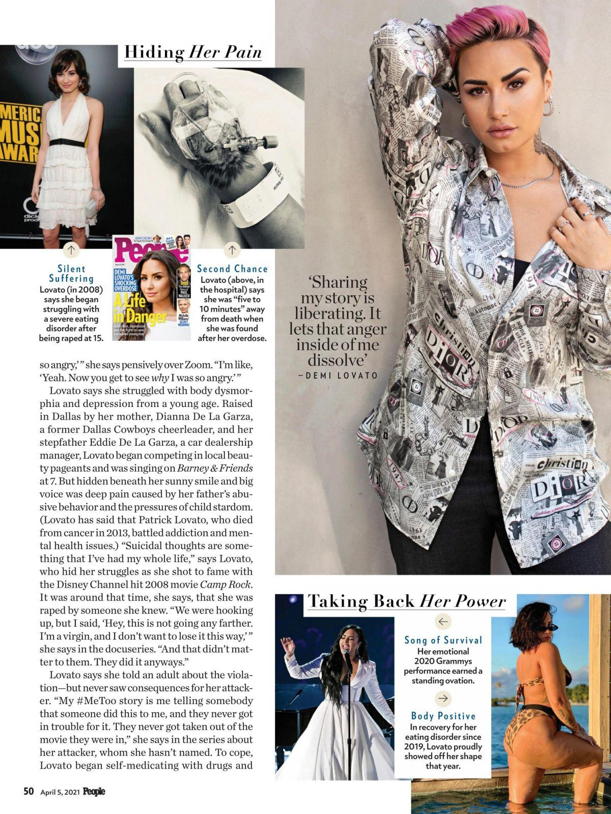 DEMI LOVATO in People Magazine, April 2021 – HawtCelebs