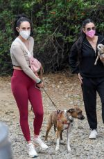 DEMI MOORE and RUMER WILLIS Out Hiking in Los Angeles 03/09/2021