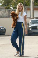 DEVON WINDSOR Out with her Dog in Coral Gables 03/29/2021
